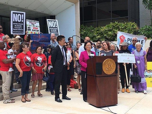 Nota sobre la nueva oportunidad que tienen los beneficiarios de DACA con la Reconciliación Presupuestaria. La foto es de una manifestación a favor del programa DACA.