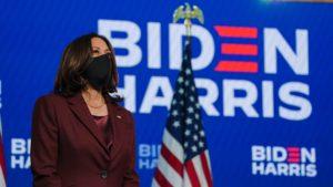 En la nota se anuncia el encuentro entre la vicepresidente Kamala Harris y beneficiarias del programa DACA. La imagen es de la mandataria.