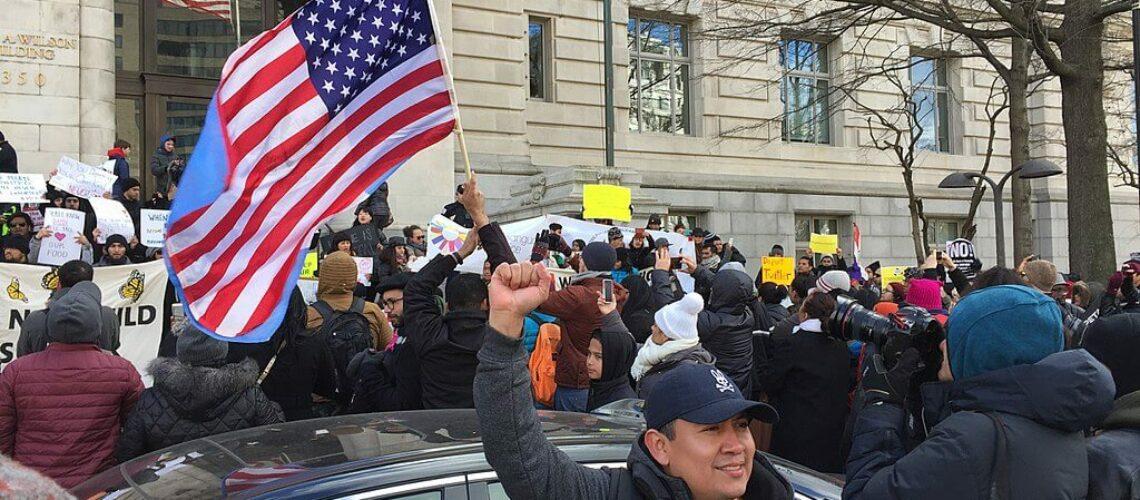 trabajadores migrantes protestan por la reforma migratoria