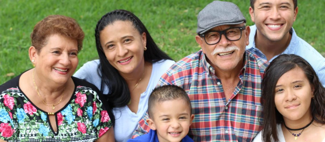 Hispanic family with good values